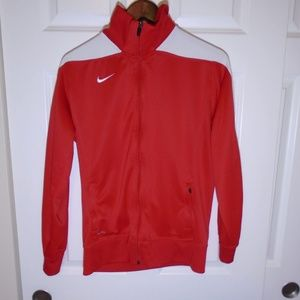 Nike Mystifi Red White Warm Up Track Jacket Coat